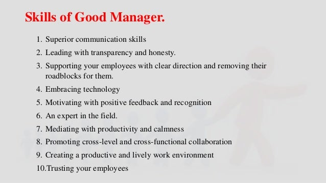 Top Ten Qualities of a Good Manager