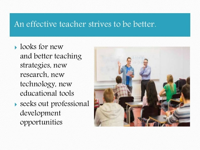 the qualities of an effective teacher Qualities of effective teachers has 86 ratings and 7 reviews tracie said: i read this for class it has some good information and ideas on how to improv.