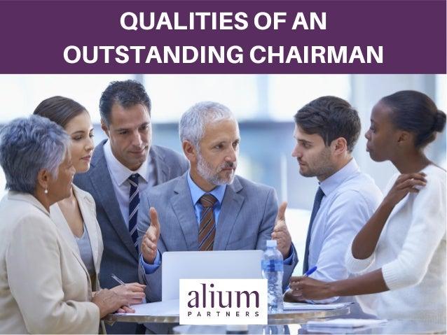 Résultats de recherche d'images pour «qualities board chairman»