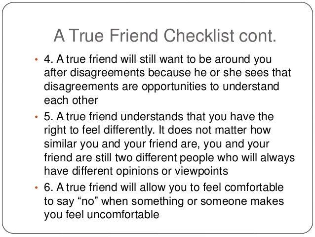 How to determine a true friend