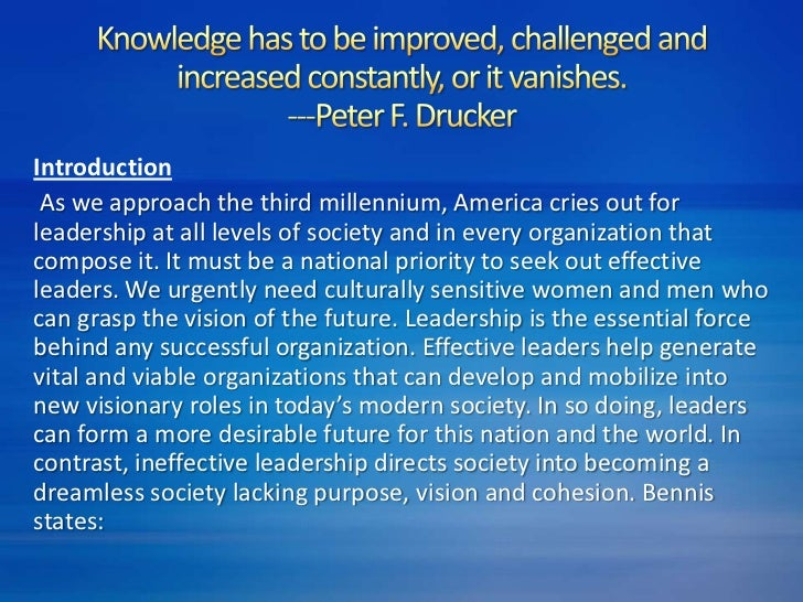 essay on leadership principles Org300: applying leadership principles credit hours: 3 papers, completing projects, and doing research discussion, exploration and application of leadership skills, principles, and practices students will learn about.