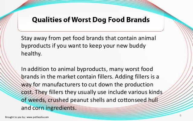 Dog Food Animal Byproducts