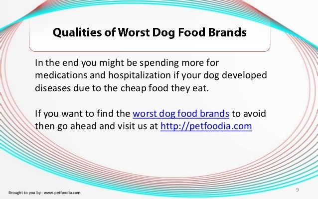 Qualities Of Worst Dog Food Brands