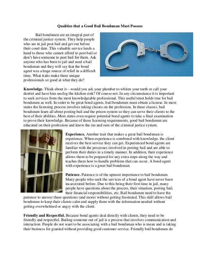the bail system powerpoint The bail system christina moore mark rosenfield positive and negatives of the bail system the bail system beneficiaries overall  week 7 power point.