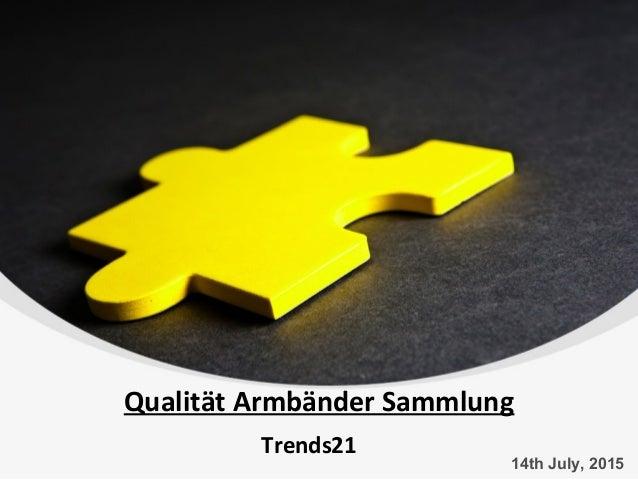Qualität Armbänder Sammlung Trends21 14th July, 2015