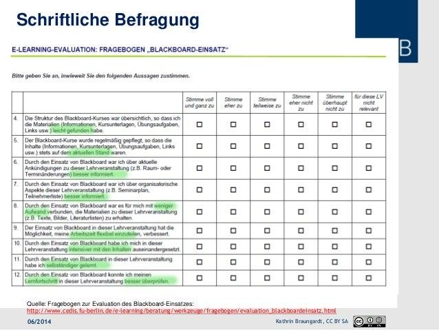 Evaluation Fragebogen