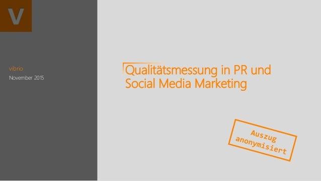vibrio November 2015 Qualitätsmessung in PR und Social Media Marketing