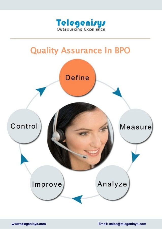 bpo quality control process Quality assurance-in-bpo