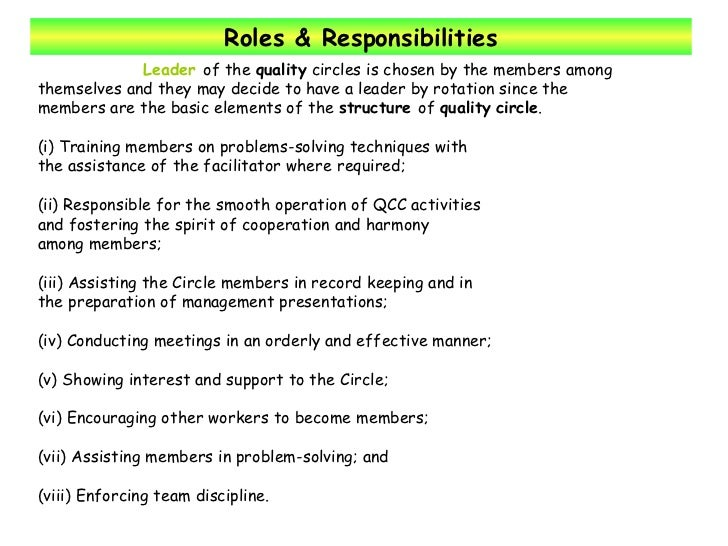 the roles and responsibilities of a leader Roles & responsibilities of peer review team leaders instructors: kelly hammond ruthe holden 2 session objectives brief overview of peer review team leader roles & responsibilities tips and resources to being a great team leader 3 purpose & objectives of peer reviews evaluate the design & operation of a department's.