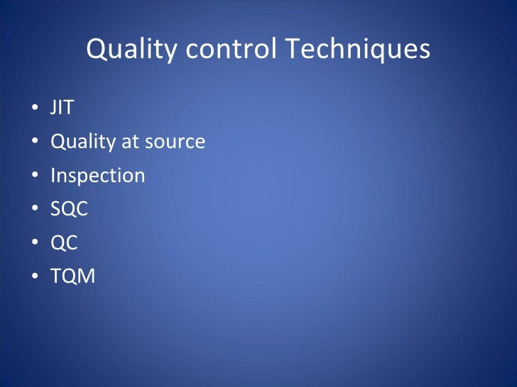 alternative approach to quality control essay The analytic hierarchy process (ahp) quality management - dealing with the multidimensional aspects of quality and quality improvement alternative approaches are discussed in see also analytic network process arrow's impossibility theorem decision making decision-making paradox.
