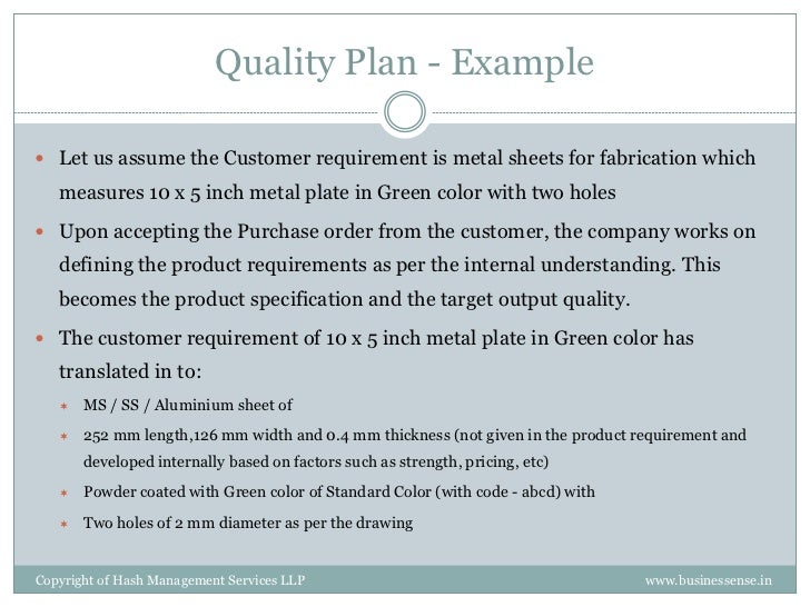 Product Quality Plan Template. 12 quality assurance plan templates ...