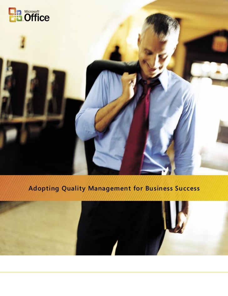 Adopting Quality Management for Business Success
