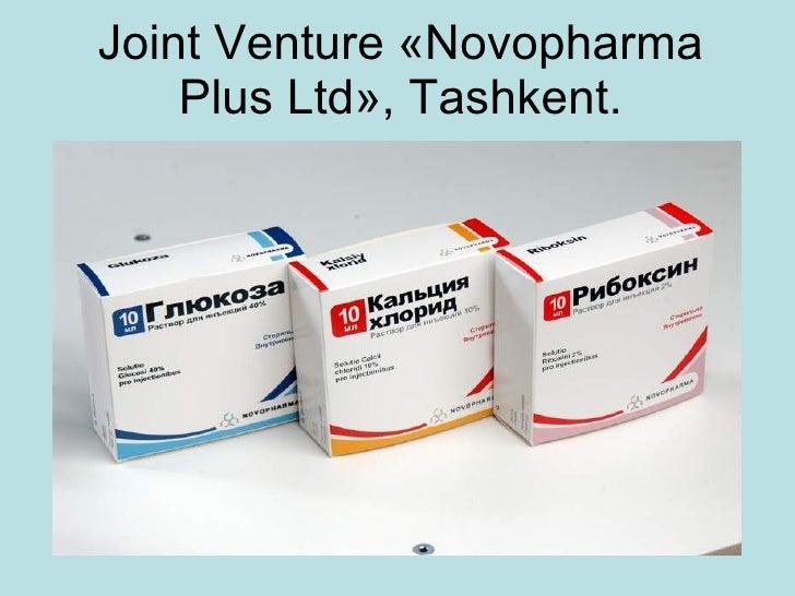 Joint Venture  « Novopharma Plus Ltd » , Tashkent.