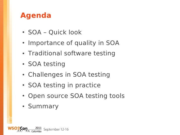 Quality, key to successful SOA Slide 2