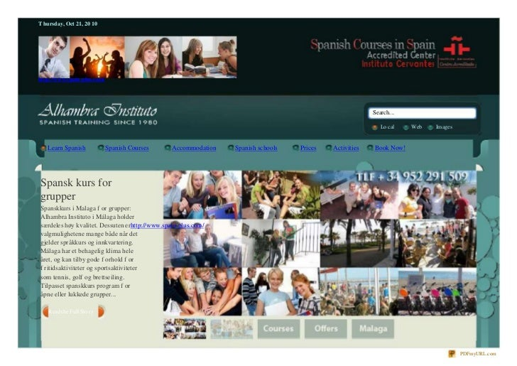 Spansk kurs for grupper | Spansk kurs for skole klasse | Lær spansk i Spania