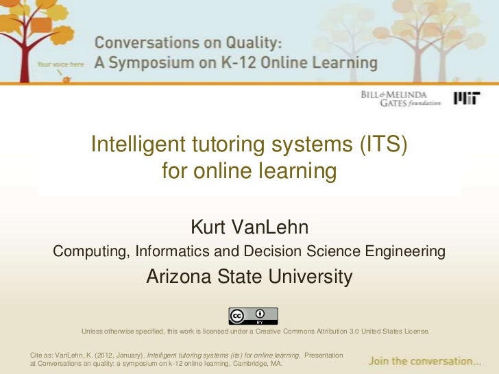 Intelligent tutoring systems (ITS)                             for online learning                                        ...