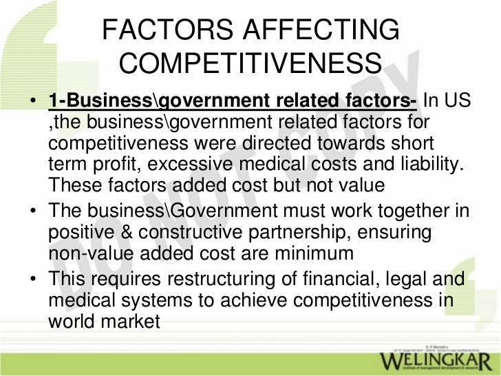 quality and global competitiveness