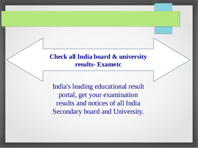 Quality and reliable examination result publishing service in india