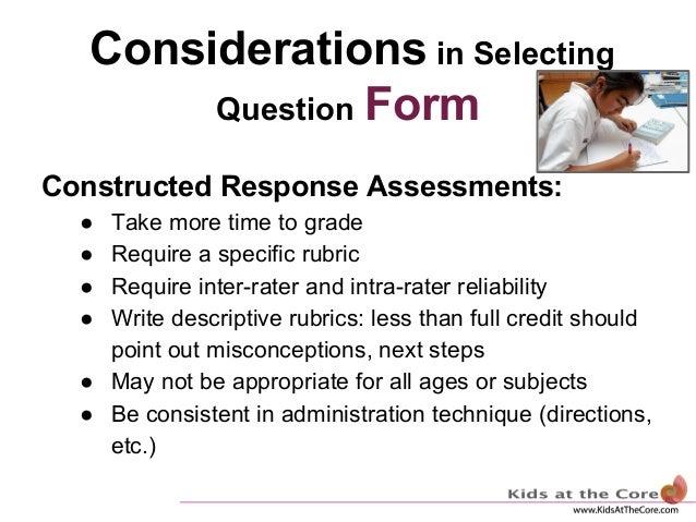 Quality Assessments-- Rubrics