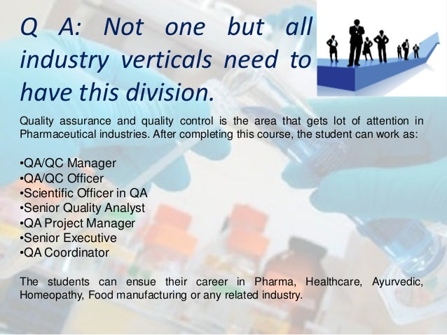Post Graduate and Executive Diploma in Pharmaceutical Quality assuran…