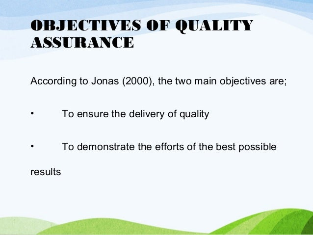 Objectives of quality assurance juvecenitdelacabrera objectives of quality assurance thecheapjerseys Choice Image