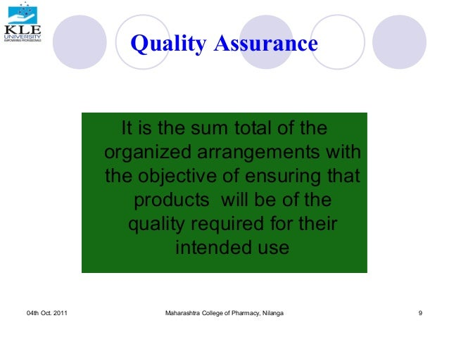 Quality Assurance is an important part of every company's production, whether goods or services are produced. Workers who specialize in this area are a valuable part of the company, ensuring that their continued success through monitoring the quality of goods or services given.