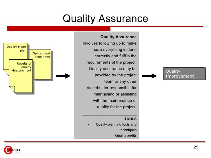 Production and quality assurance plan essay