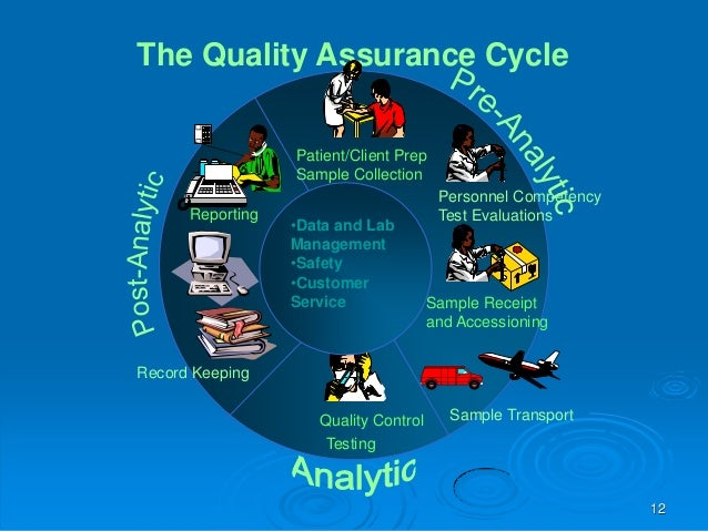 Quality assurance in relation to medical laboratory accreditation