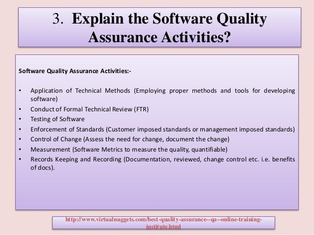 4 3 explain the software quality assurance - Qa Interview Questions And Answers Quality Assurance Interview