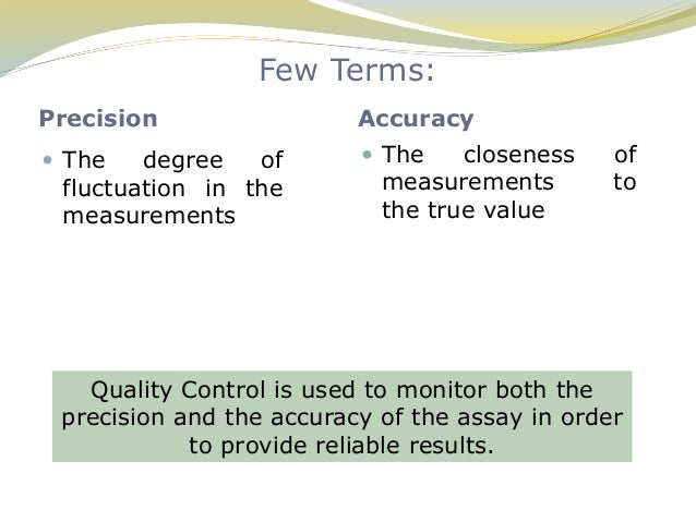 Quality Assurance In The Department Of Clinical Biochemistry