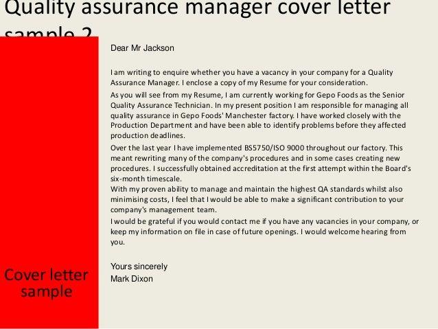 Quality Assurance ...