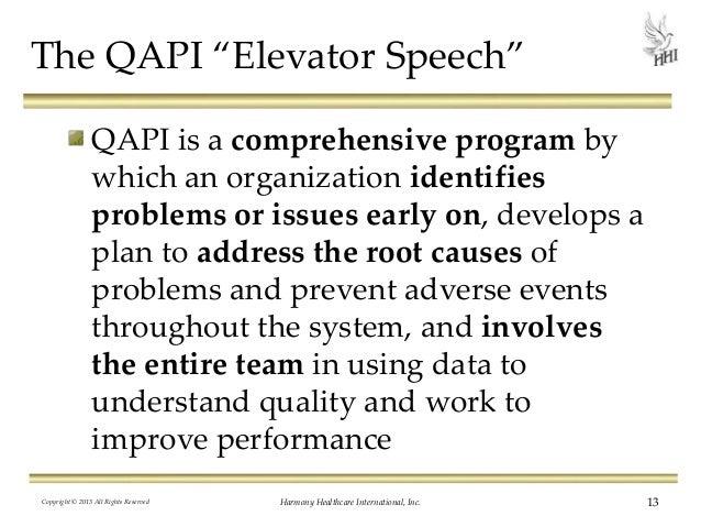 Elevator speech draft