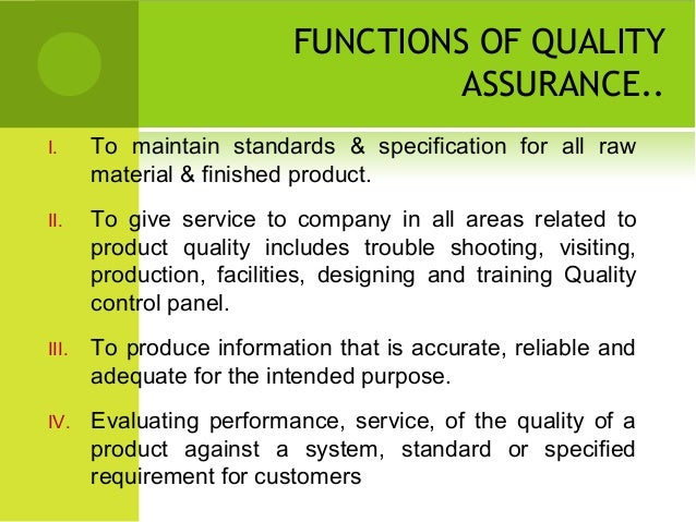 Quality Assurance Ppt