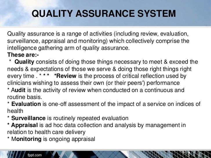 Quality assurance in hospitals for Quality assurance surveillance plan template