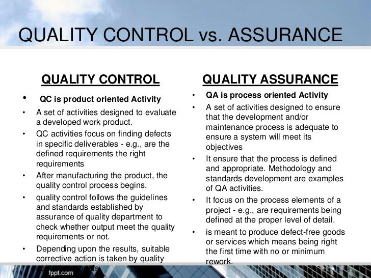 Quality Assurance in Hospitals