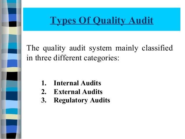Quality audit 112070804012