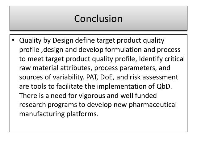 quality by design in tqm
