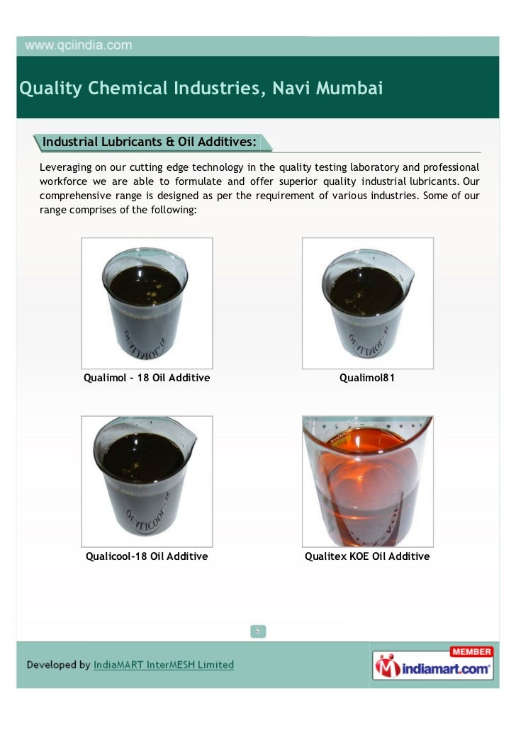 Quality Chemical Industries, Navi Mumbai, Wax Emulsions