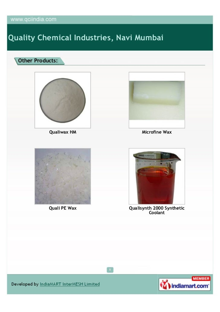Quality Chemical Industries, Navi Mumbai, Wax Emulsions