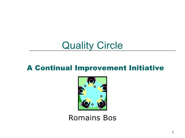 Quality Circle Romains Bos A Continual Improvement Initiative