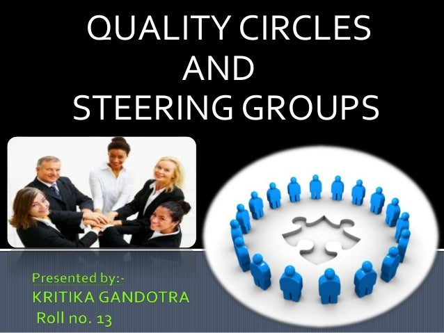 QUALITY CIRCLES      ANDSTEERING GROUPS