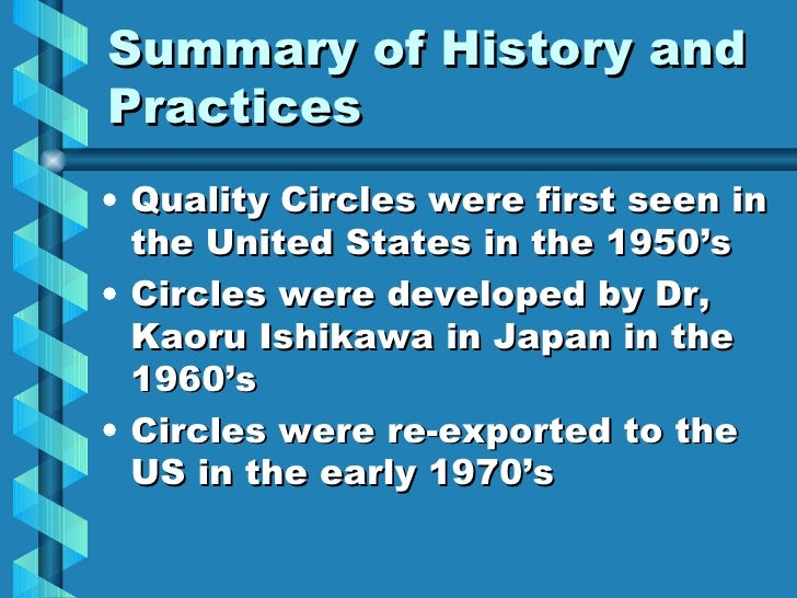 """an analysis of total quality management strategies developed by professor ishikawa Under the """"company-wide"""" ishikawa umbrella are not just a company's internal quality control activities but the company itself, the quality of management, human respect, after sales service and customer care."""