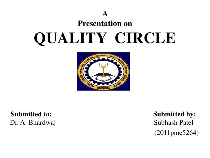 A                  Presentation on       QUALITY CIRCLESubmitted to:                       Submitted by:Dr. A. Bhardwaj   ...