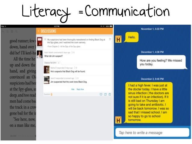 Literacy =Communication