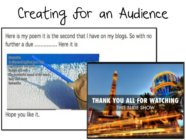 Creating for an Audience