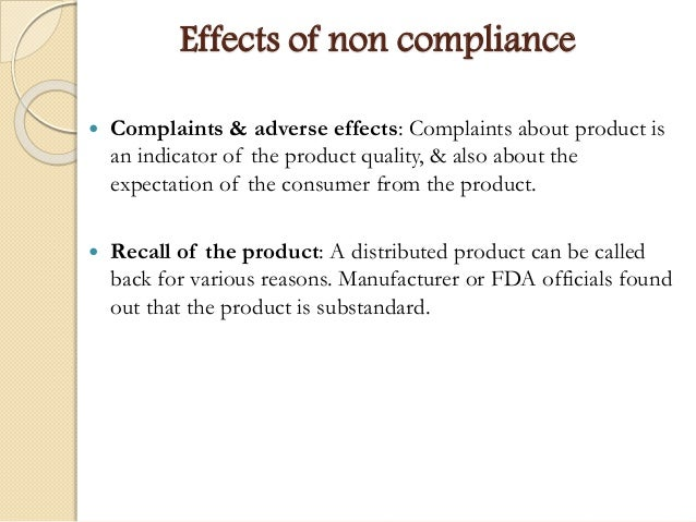 Case 2 quality compliance at the