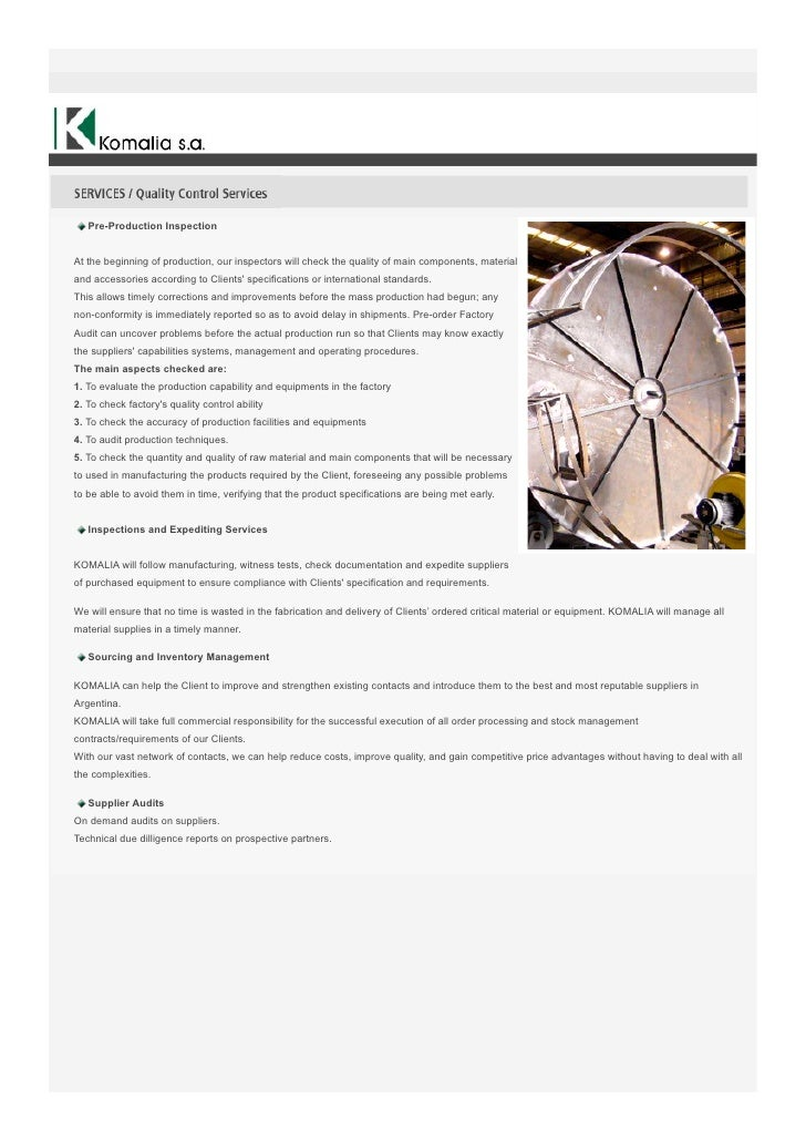 Pre-Production InspectionAt the beginning of production, our inspectors will check the quality of main components, materia...