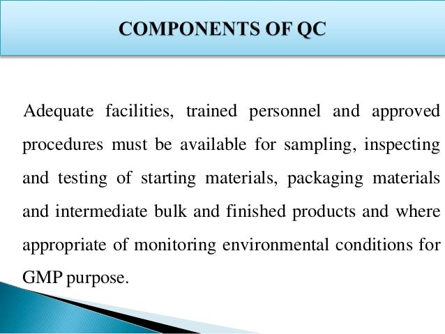 Quality Control in Pharmaceutical Industry Slide 4