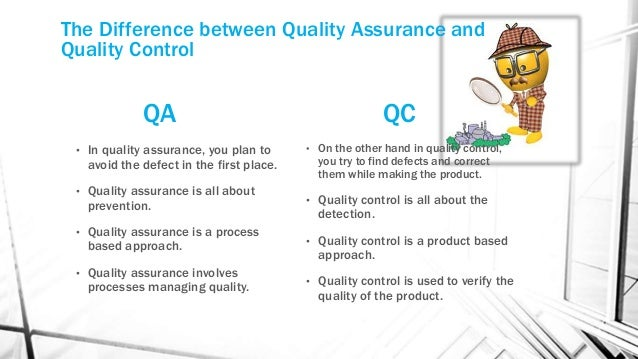 quality assurance examples