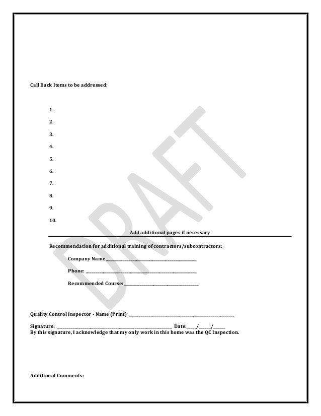 Pennsylvania Weatherization Quality Control Inspection